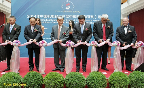 中国商务部外贸发展局副局长朱仲星在中国机电轻工产品中东欧展览会上