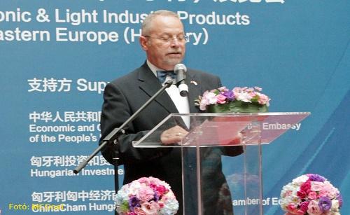 Pető Ernő 匈中经济商会主席在中国机电轻工产品中东欧展览会上致辞