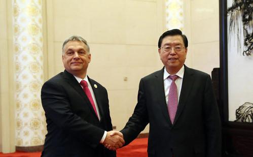 张德江会见匈牙利总理欧尔班